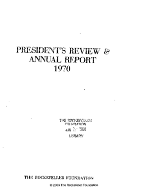 Rockefeller Foundation - 1970 Annual Report