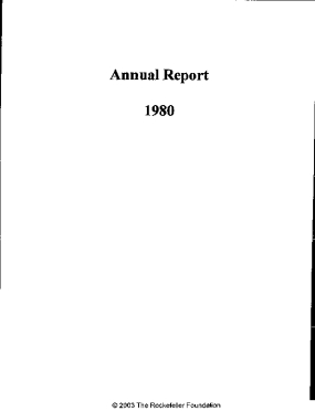 Rockefeller Foundation - 1980 Annual Report