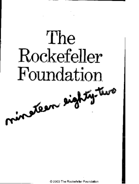 Rockefeller Foundation - 1982 Annual Report