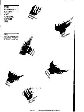 Rockefeller Foundation - 1985 Annual Report