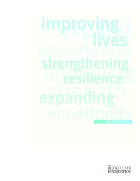 Rockefeller Foundation - 2008 Annual Report