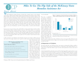 Miles To Go: The Flip Side of the McKinney-Vento Homeless Assistance Act