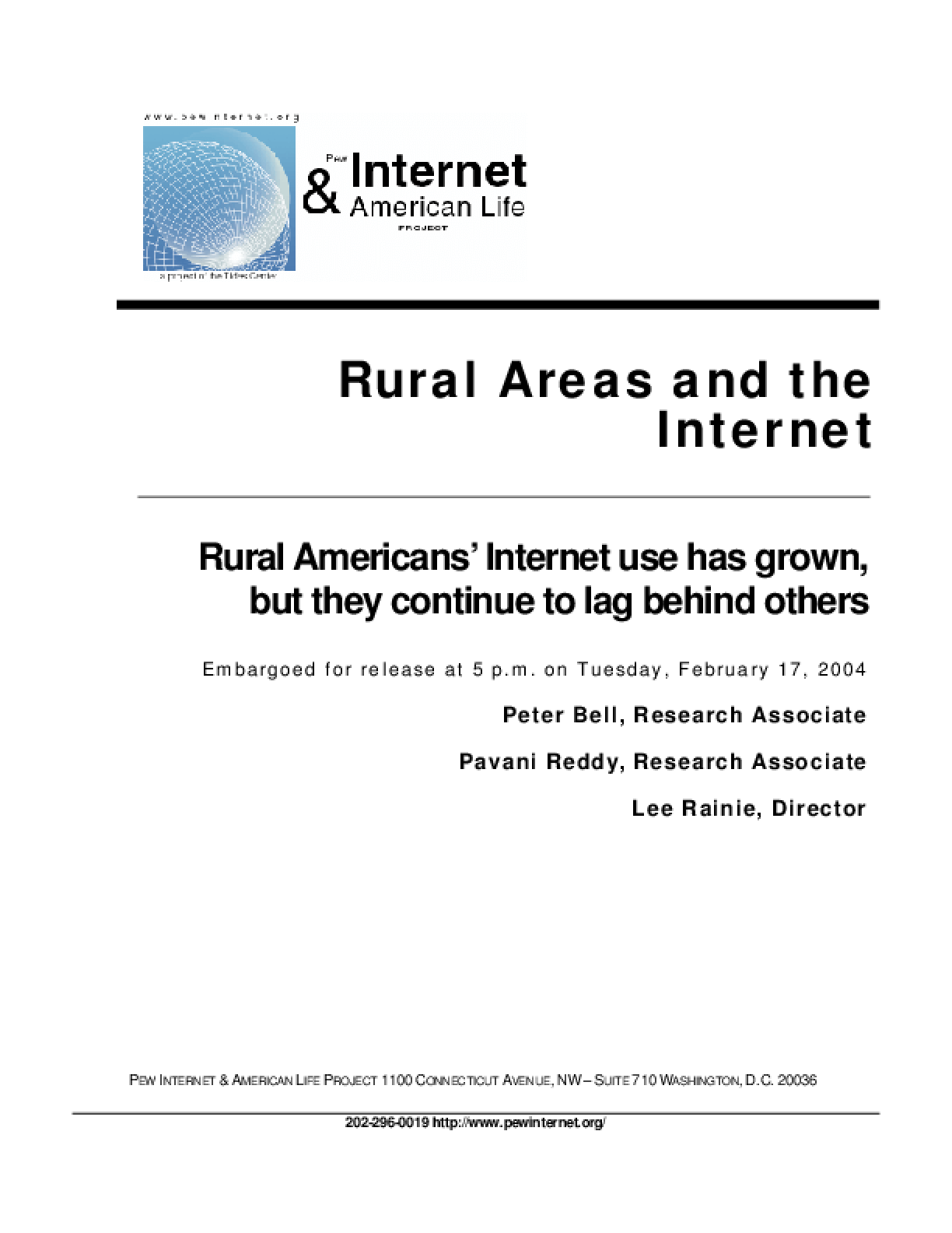 Rural Areas and the Internet