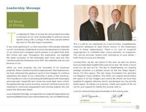 San Diego Foundation - 2009 Annual Report