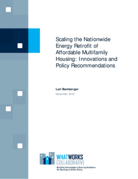 Scaling the Nationwide Energy Retrofit of Affordable Multifamily Housing: Innovations and Policy Recommendations