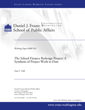 The School Finance Redesign Project: A Synthesis of Project Work to Date