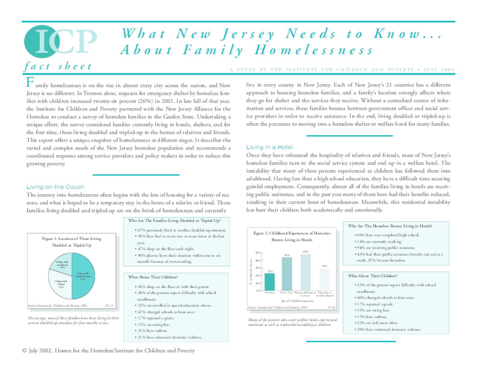 What New Jersey Needs to Know About Family Homelessness