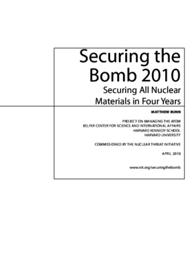 Securing the Bomb: An Agenda for Action