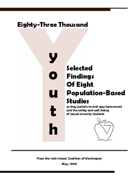 Eighty-three Thousand Youth: Selected Findings of Eight Population-Based Studies