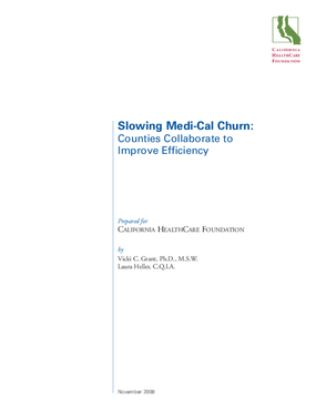 Slowing Medi-Cal Churn: Counties Collaborate to Improve Efficiency