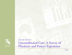 Snapshot: Uncoordinated Care: A Survey of Physician and Patient Experience