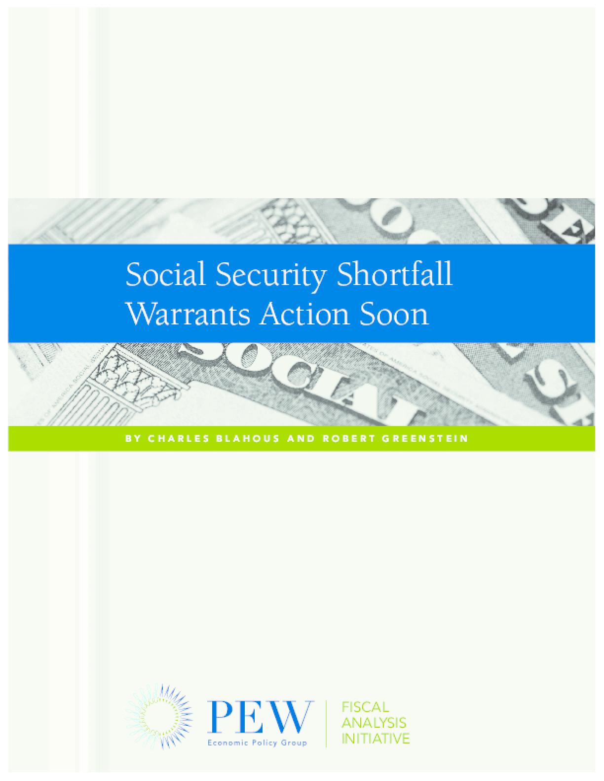Social Security Shortfall Warrants Action Soon