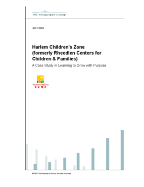 Harlem Children's Zone: Learning to Grow with Purpose