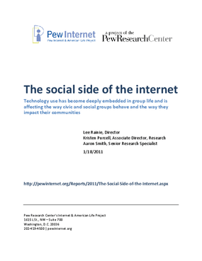 The Social Side of the Internet