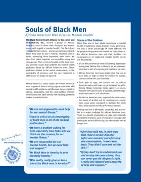Souls of Black Men: African American Men Discuss Mental Health
