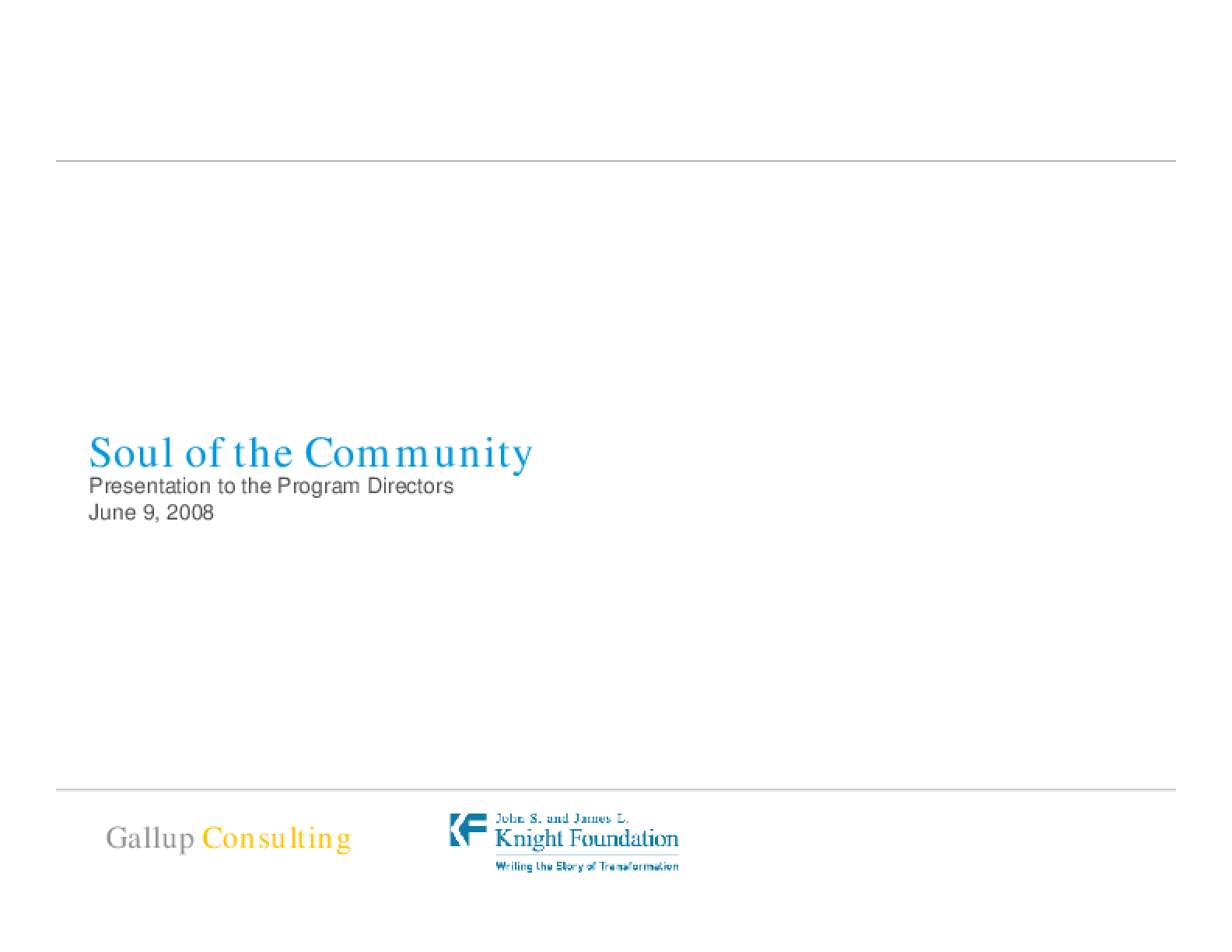 Soul of the Community