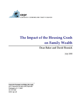 The Impact of the Housing Crash on Family Wealth
