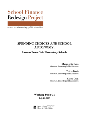 Spending Choices and School Autonomy: Lessons From Ohio Elementary Schools