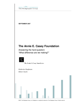 "Annie E. Casey Foundation Asks The Hard Question: ""What difference are we making?"""