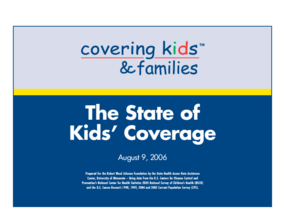 The State of Kids' Coverage