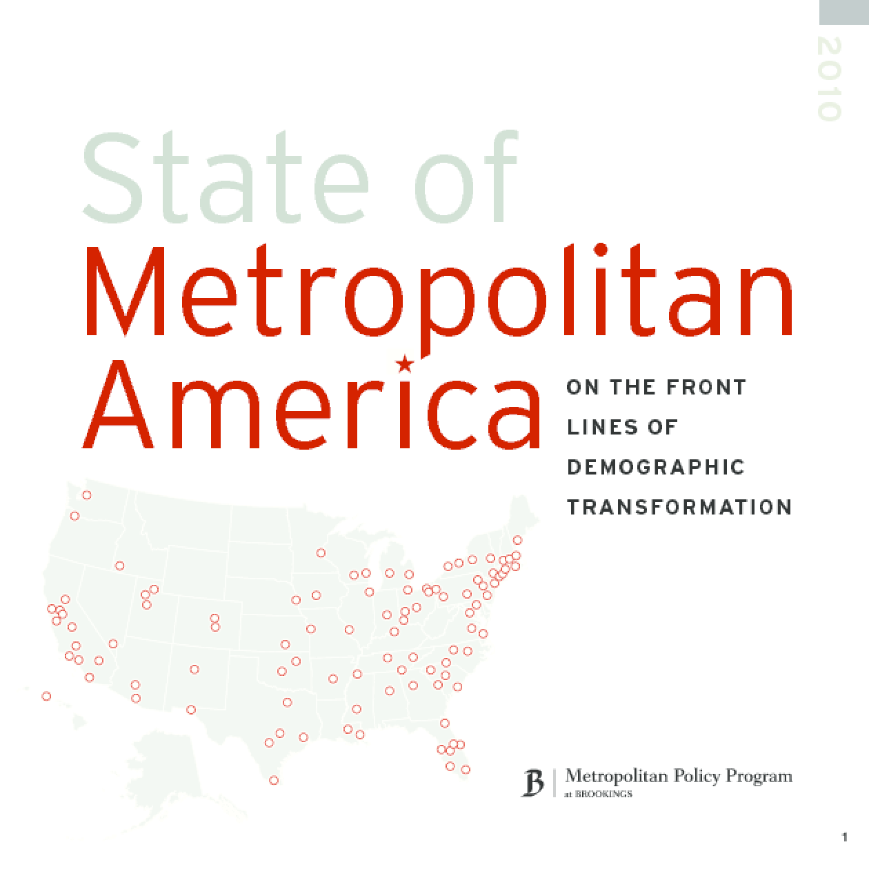 State of Metropolitan America: On the Front Lines of Demographic Transformation