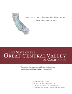 The State of the Great Central Valley -- Community Well-Being