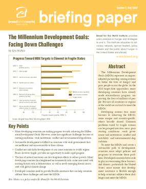 The Millennium Development Goals: Facing Down the Challenges