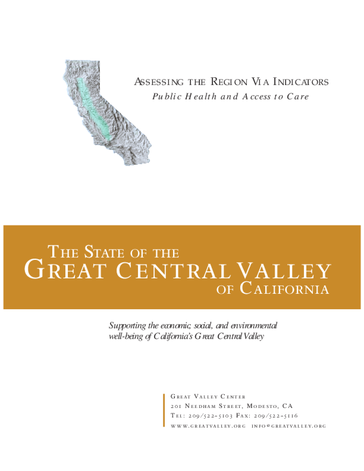 The State of the Great Central Valley -- Public Health and Access to Care