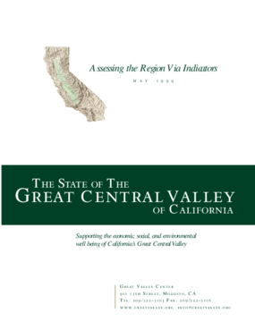 The State of the Great Central Valley -- The Economy