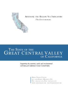The State of the Great Central Valley -- The Environment