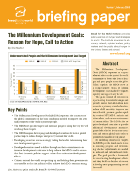 Millennium Development Goals: Reason for Hope, Call to Action