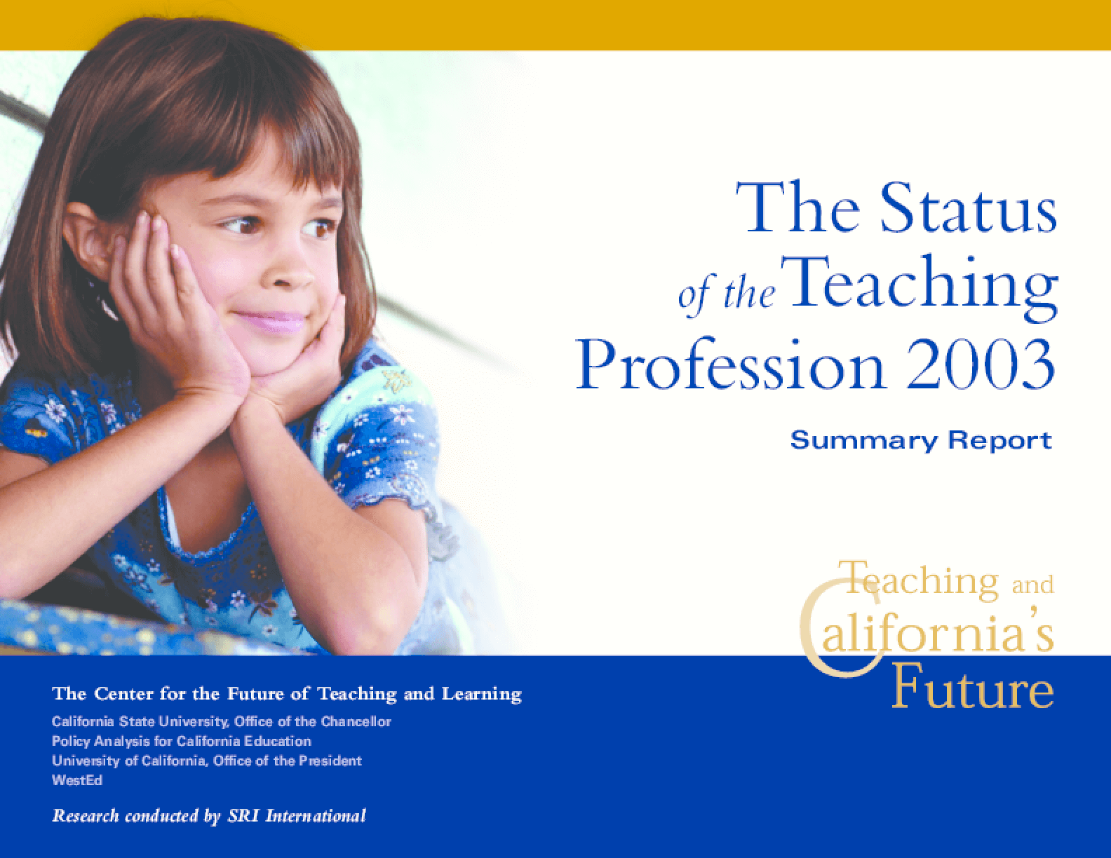 The Status of the Teaching Profession 2003: Summary Report