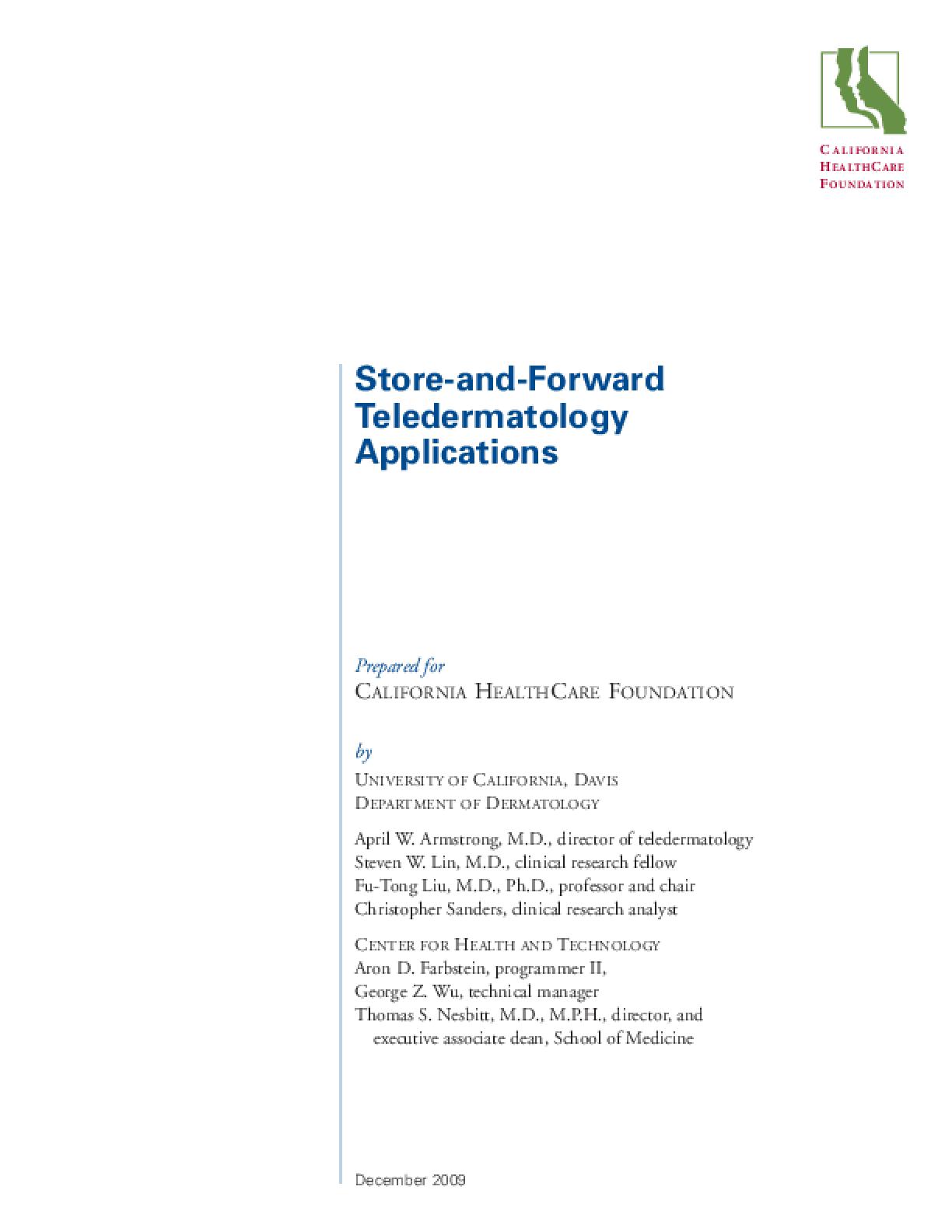 Store-and-Forward Teledermatology Applications