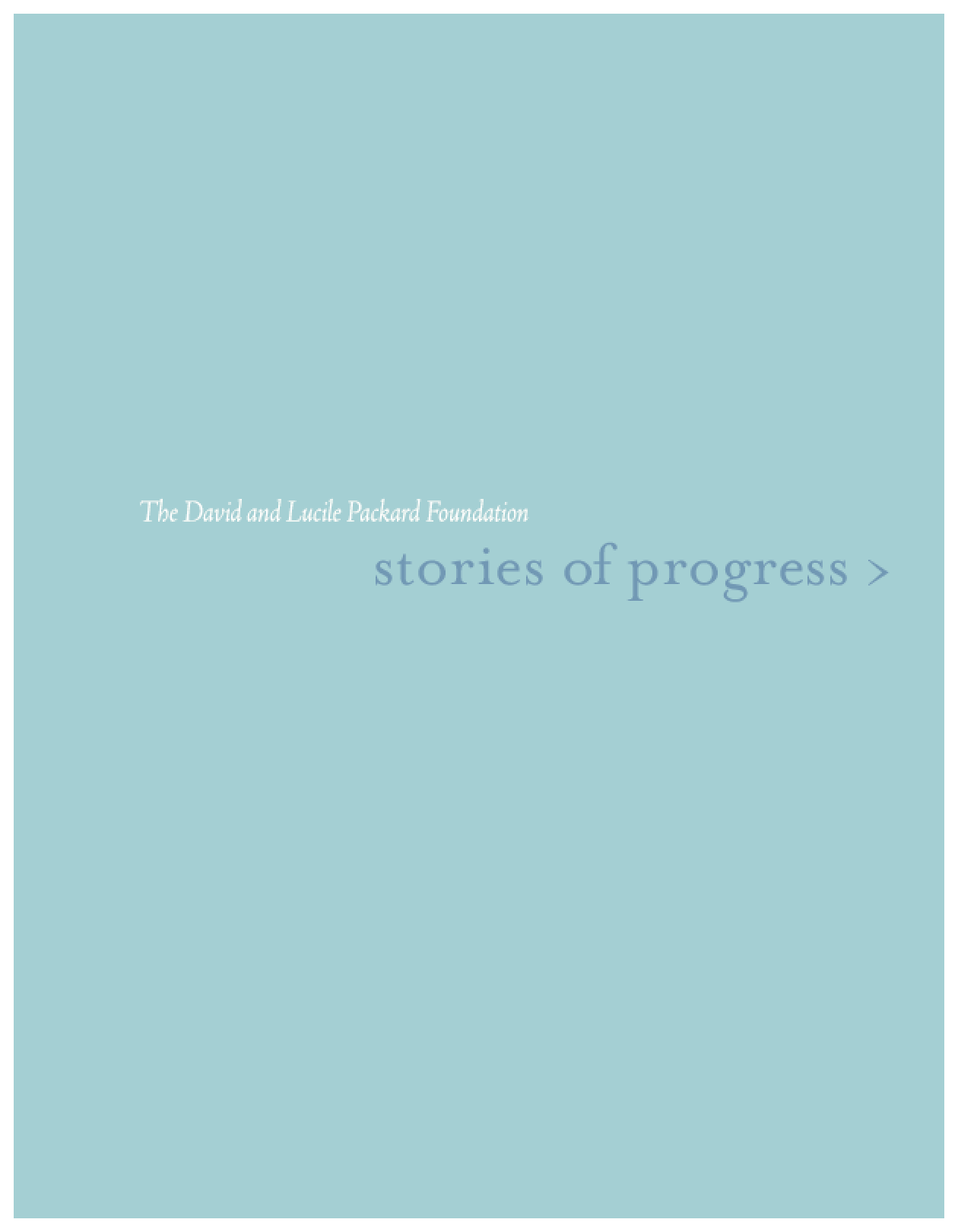 Stories of Progress