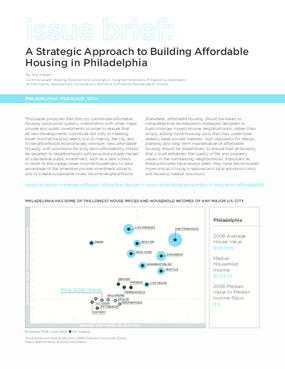 A Strategic Approach to Building Affordable Housing in Philadelphia