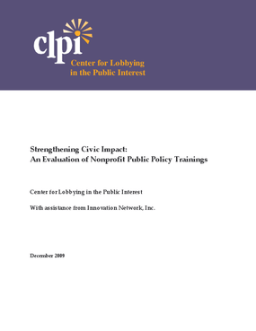 Strengthening Civic Impact: An Evaluation of Nonprofit Public Policy Trainings
