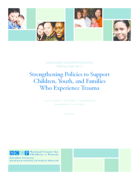 Strengthening Policies to Support Children, Youth, and Families Who Experience Trauma