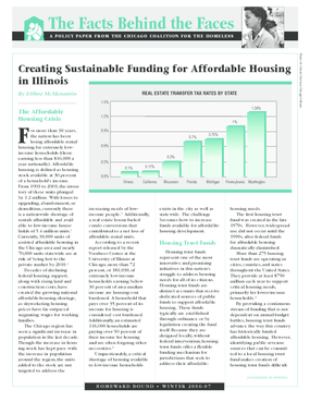 Creating Sustainable Funding for Affordable Housing in Illinois