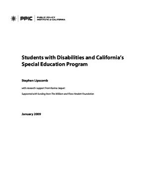 Students With Disabilities and California's Special Education Program