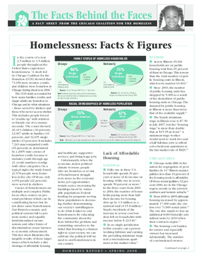 Homelessness: Facts and Figures