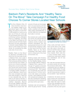 Success Stories From the California Endowment's Childhood Obesity Prevention Programs