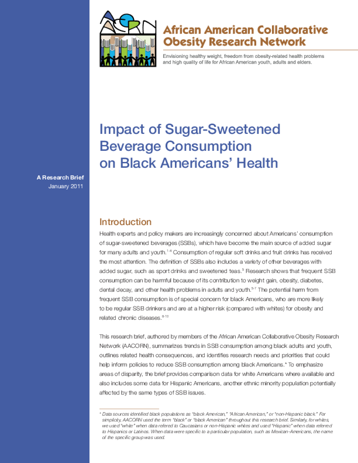 Sugar-Sweetened Beverage Consumption Among Black Americans