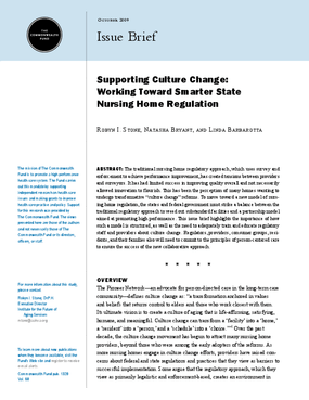 Supporting Culture Change: Working Toward Smarter State Nursing Home Regulation