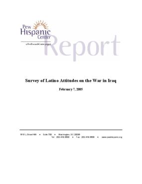 Survey of Latino Attitudes on the War in Iraq