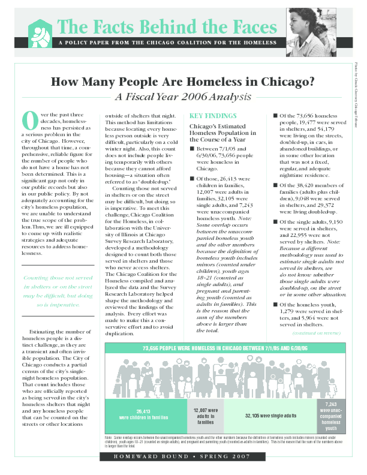 How Many People Are Homeless in Chicago? A Fiscal Year 2006 Analysis (key findings)
