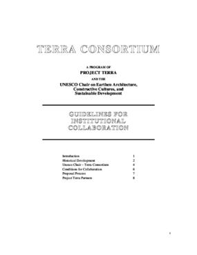 Terra Consortium: Guidelines for Institutional Collaboration
