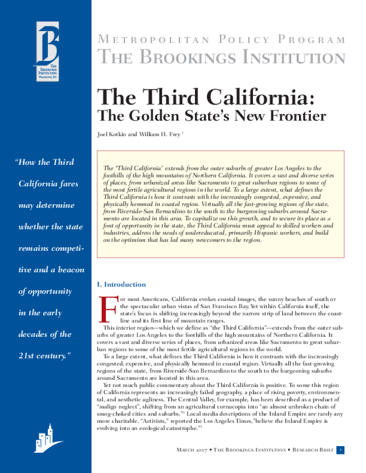 The Third California: The Golden State's New Frontier