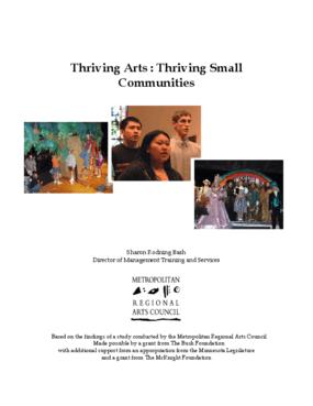 Thriving Arts: Thriving Small Communities