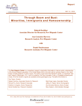 Through Boom and Bust: Minorities, Immigrants and Homeownership