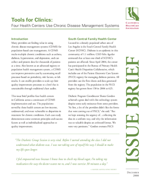 Tools for Clinics: Four Health Centers Use Chronic Disease Management Systems